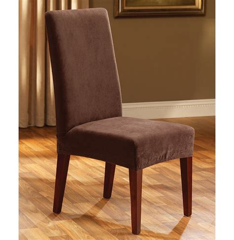 fit stretch pique short dining room chair slipcover
