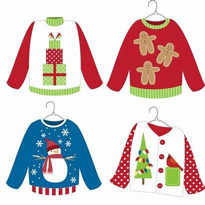 Sweater Christmas Ugly Clipart Crafts Clip Sweaters