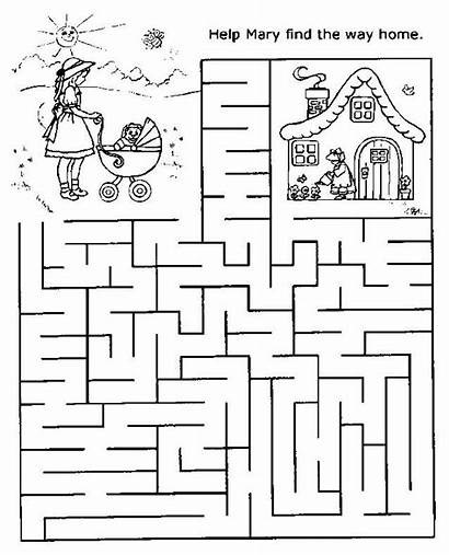 Mazes Printable Easy Worksheets Pages Coloring Printables