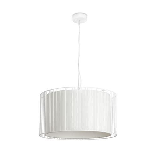 comprar lampara de techo blanca acabado rejilla tienda
