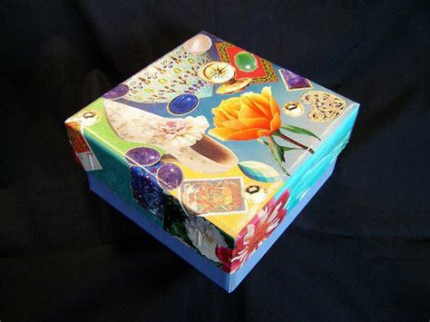 decoupage collage box  perfect crafts  teens