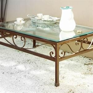 Table Basse Fer Forgé : tables basses en fer forg fabrication artisanale villa m lodie ~ Teatrodelosmanantiales.com Idées de Décoration
