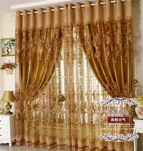 free shipping luxury fancy design sheer curtain panel with