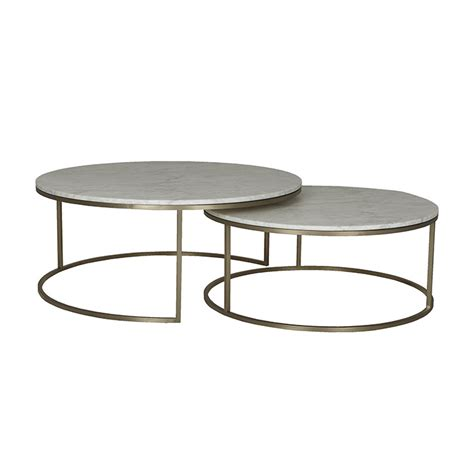 This coffee table will compliment any scheme: Elle Round Marble Nest Coffee Tables - Moorabbin Home ...