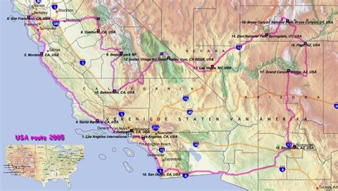 route maps of west coast usa