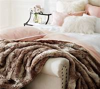 faux fur throw Faux Fur Ombre Throws | Pottery Barn
