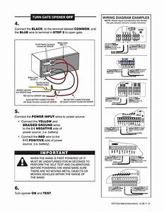 Important  Turn Gate Opener Off  Wiring Diagram Examples