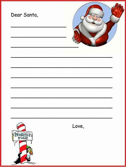 Santa Letter Template Letters Printable Christmas Templates