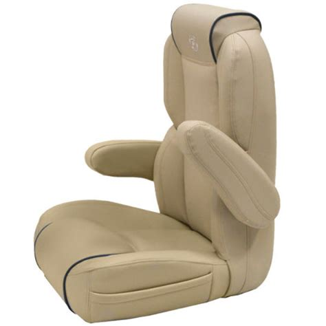 Captain Chairs For Pontoon Boats by Premier Pontoon Boats Cafe Au Lait Blue Marine Captain