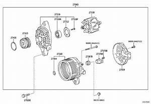 Toyota Corolla Bolt For Alternator   Cvt  Cnd  Std