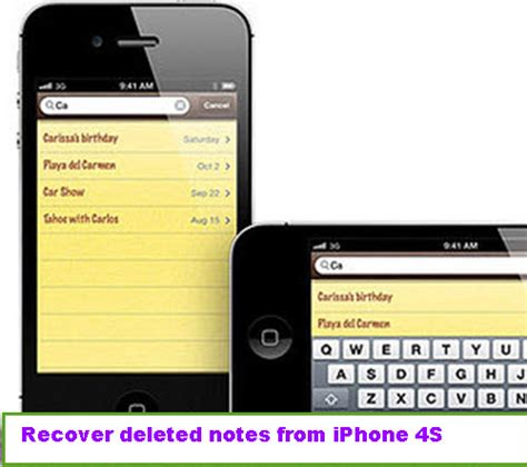 recover deleted notes iphone how can i recover deleted notes from iphone 4s
