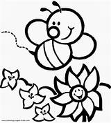 Bee Coloring Pages Bumble Printable Bees sketch template