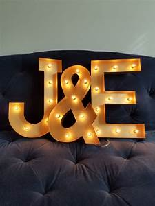 gold light up letter lights marquee bulb paper mache electric With gold letter lights