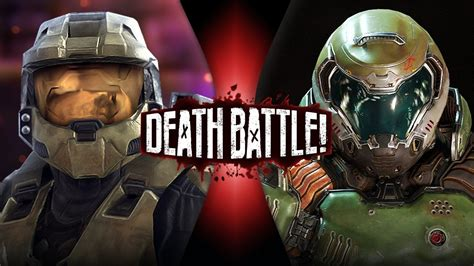 siege bulle master chief vs doomguy halo vs doom battle