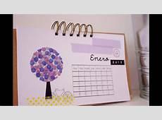 Tutorial Calendario 2013 enero CON P DE PAPEL YouTube