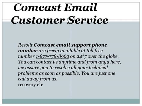 comcast technical support phone number ppt call 24 7 anytime 18ww8 powerpoint presentation
