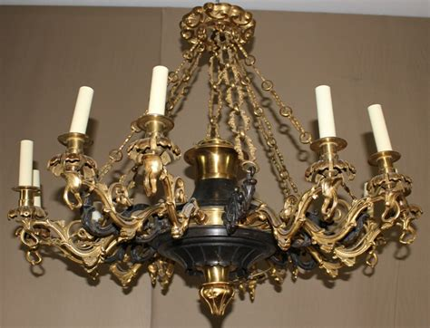 Chandelier. Amusing Large Bronze Chandelier