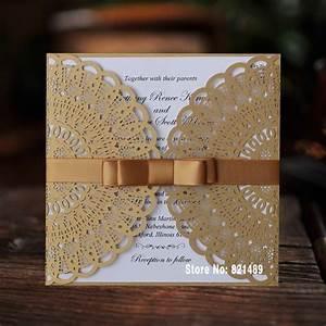 Aliexpresscom buy elegant birthday invitations gold for Buy wedding invitations in store