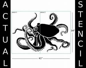 Schablonen Für Wände : stencil large octopus wall stencil by oliveleafstencils on etsy threadart pinterest ~ Sanjose-hotels-ca.com Haus und Dekorationen