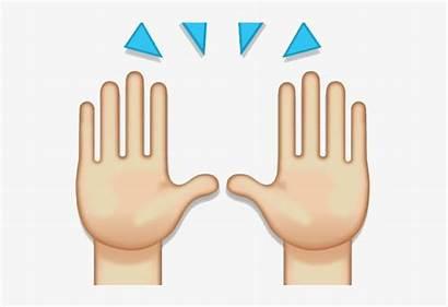 Praise Emoji Hands Hand Clipart Pngkit Percent