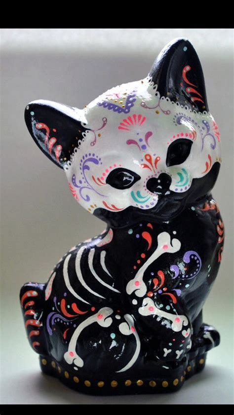 25+ Best Ideas About Sugar Skull Cat On Pinterest Candy