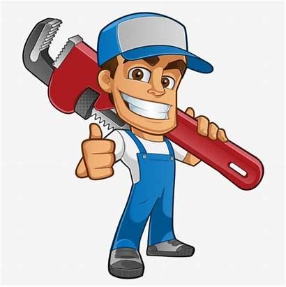 Cartoon Plumber Tools Clipart Character Photographer