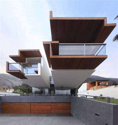 House Architectural by Creatively Cool Dual Cantilevered House In Peru