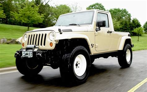 jeep j8 truck next generation wrangler could get pickup version truck