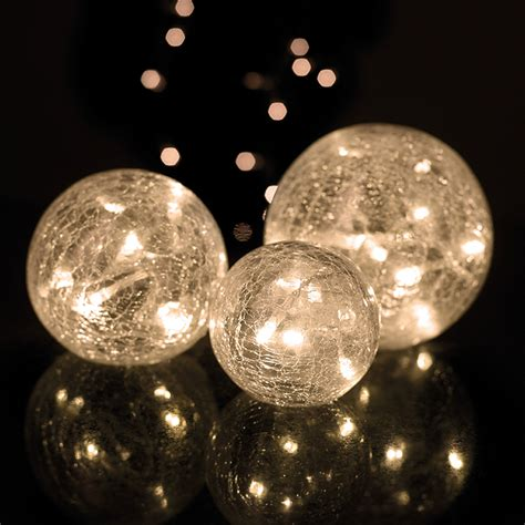 ball lights parlane set of 3 glass crackle lights white iwoot