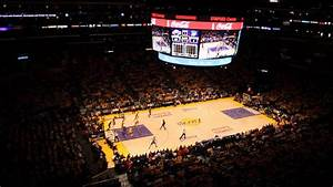 Staples Center Atmosphere During Playoff Game Between