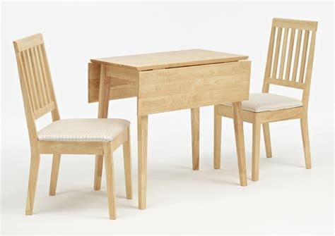 Furniture Kitchen Tables Small Kitchen Spaces With Drop Leaf Dining Table And 2 Chairs With White Fabric