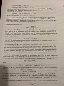 2a  Calculate Rate Constant At The Higher Temperat