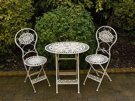 details about folding metal garden furniture 2 chairs oval