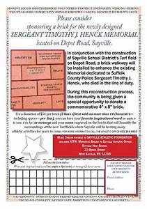 Tidings Online    Engraved Bricks Beautify Henck Memorial
