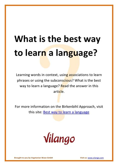 What Is The Best Way To Learn A Language