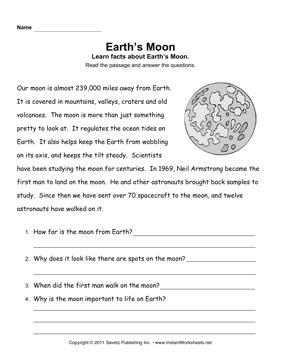solar system reading comprehension worksheets page 2