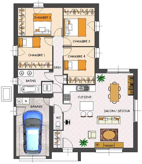 maison plain pied 4 chambres construction maison neuve satine lamotte maisons