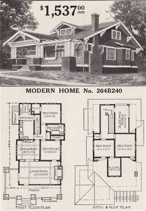 Craftsman Style Floor Plans by 2 Story Vintage Craftsman House Plans Craftsman Style