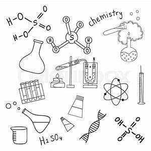 Sketch Of Science Doddle Elements  Vector Illustration