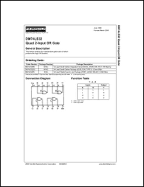 Fairchild Semiconductor 7432 Series Datasheets. 7433, 7432 ...