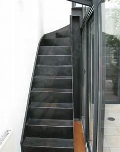 Escalier 4 Marches : escalier en fer photo dt76 esca 39 droit 1 4 tournant haut marches en t le lisse pli e formant ~ Melissatoandfro.com Idées de Décoration