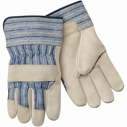 Leather Gloves Cuff Palm Short Grain Cowhide
