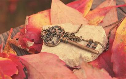 Key Fall Iphone Papel Wallpapers Heart Nature