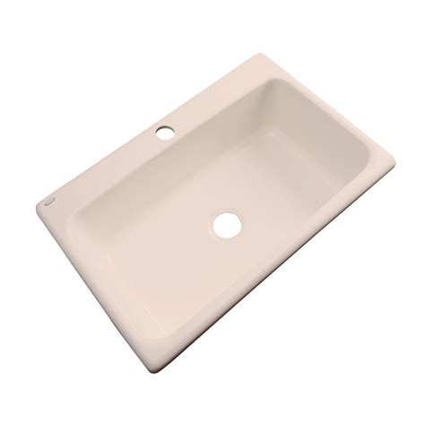 Acrylic Kitchen Sinks by Thermocast Manhattan Drop In Acrylic 33 In 1 Single