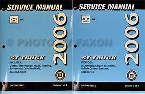 2006 Chevrolet Ssr Repair Shop Manual Original 2 Volume Set