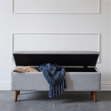 mid century storage bench west elm