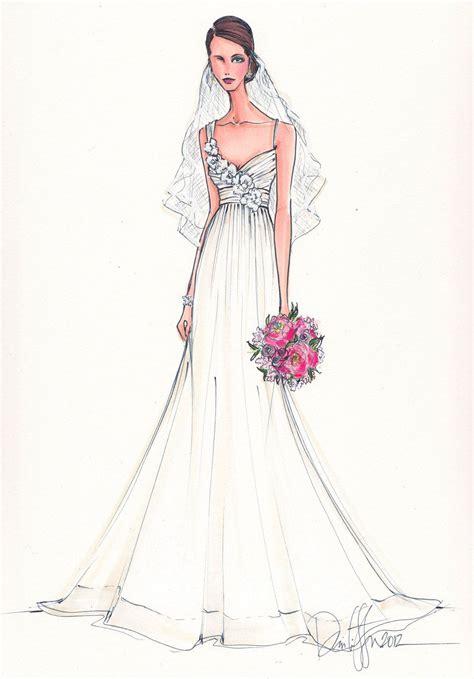Custom Bridal Illustration $165 00 via Etsy Wedding