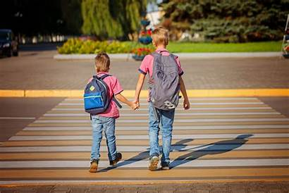 Walking Safety Brothers Crossing Children Tips Pedestrian