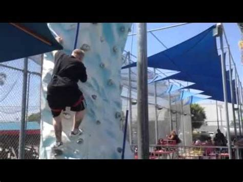 Another Fat Guy Thinking Can Climb Rock Wall Youtube