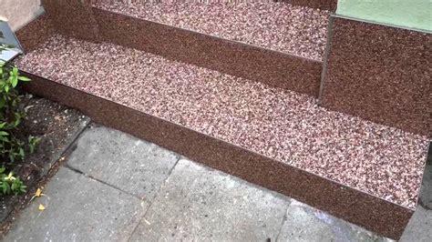 aussentreppe sanieren steinteppich steinteppich kieselbeschichtung